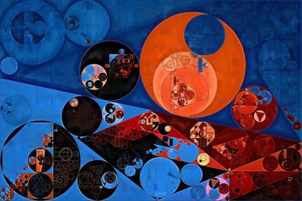 Gradient Digital Art - Abstract Painting - Dark Midnight Blue by Vitaliy Gladkiy