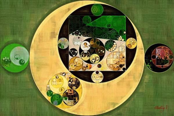 Dark Olive Green Wall Art - Digital Art - Abstract Painting - Dark Olive Green by Vitaliy Gladkiy