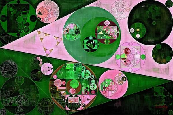 Ferns Digital Art - Abstract Painting - Fern Green by Vitaliy Gladkiy