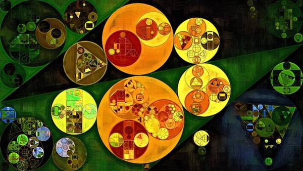 Gradient Digital Art - Abstract Painting - Gold Tips by Vitaliy Gladkiy