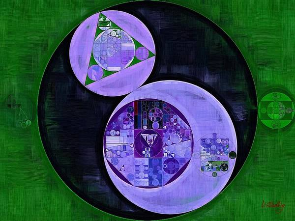 Wall Art - Digital Art - Abstract Painting - Medium Purple by Vitaliy Gladkiy