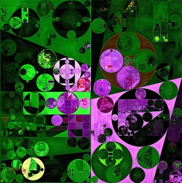 Orchid Digital Art - Abstract Painting - Mineral Green by Vitaliy Gladkiy