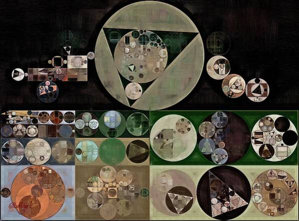Abstraction Digital Art - Abstract Painting - Neutral Green by Vitaliy Gladkiy