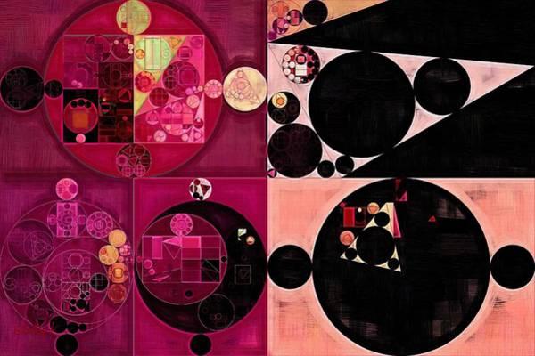 Wall Art - Digital Art - Abstract Painting - Pansy Purple by Vitaliy Gladkiy