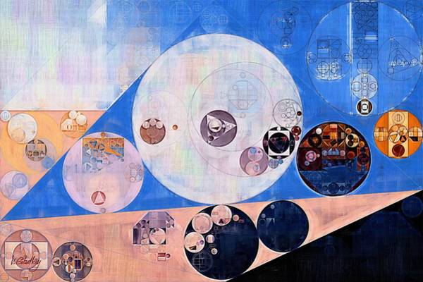 Wall Art - Digital Art - Abstract Painting - Petite Orchid by Vitaliy Gladkiy