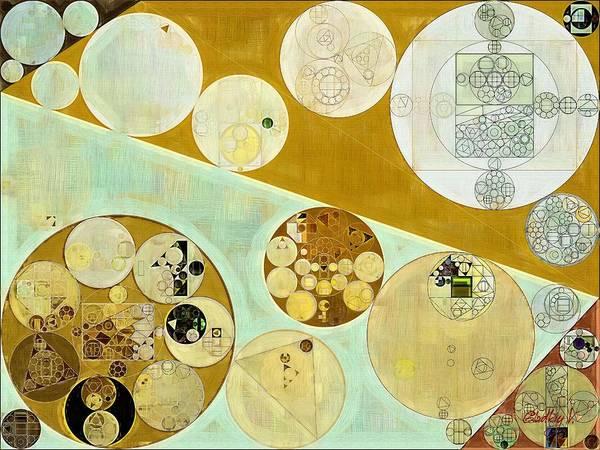Gradient Digital Art - Abstract Painting - Reef Gold by Vitaliy Gladkiy