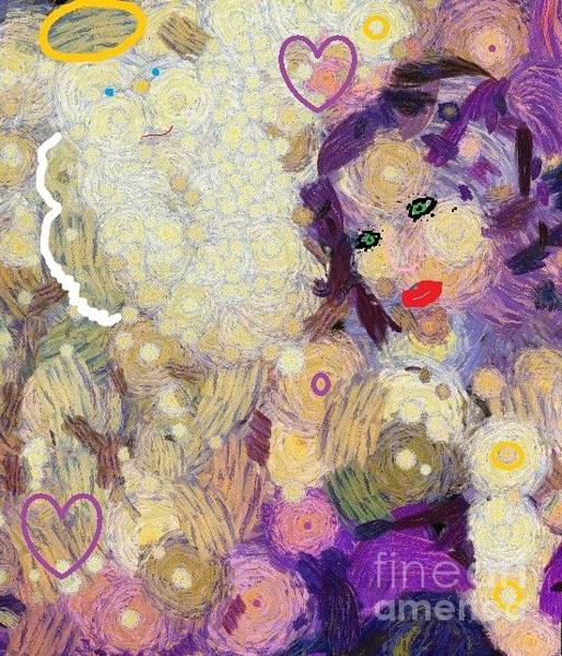 Painting - Abstract Painting She Lady Woman Chic Gal Girl Her Hear Me Rarrr by Catherine Lott