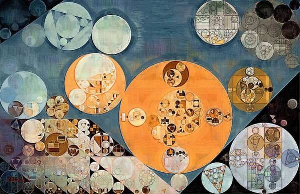 Wall Art - Digital Art - Abstract Painting - Shuttle Grey by Vitaliy Gladkiy