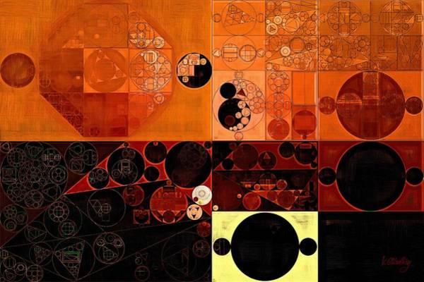 Wall Art - Digital Art - Abstract Painting - Sinopia by Vitaliy Gladkiy