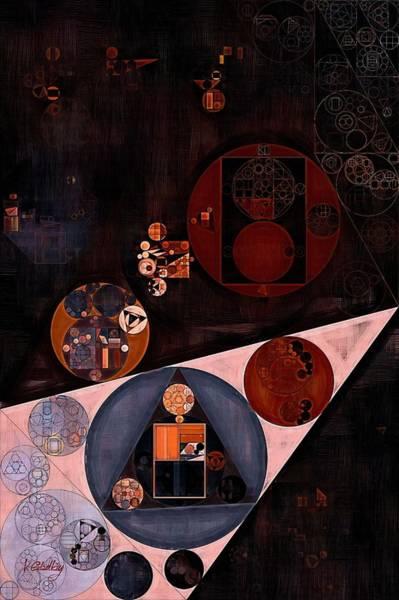 Wall Art - Digital Art - Abstract Painting - Very Dark Brown by Vitaliy Gladkiy