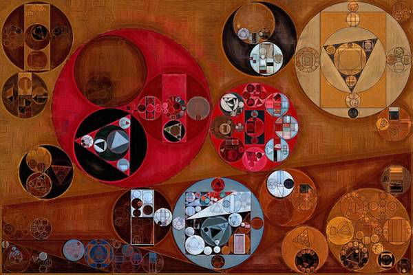 Burn Digital Art - Abstract Painting - Zorba by Vitaliy Gladkiy