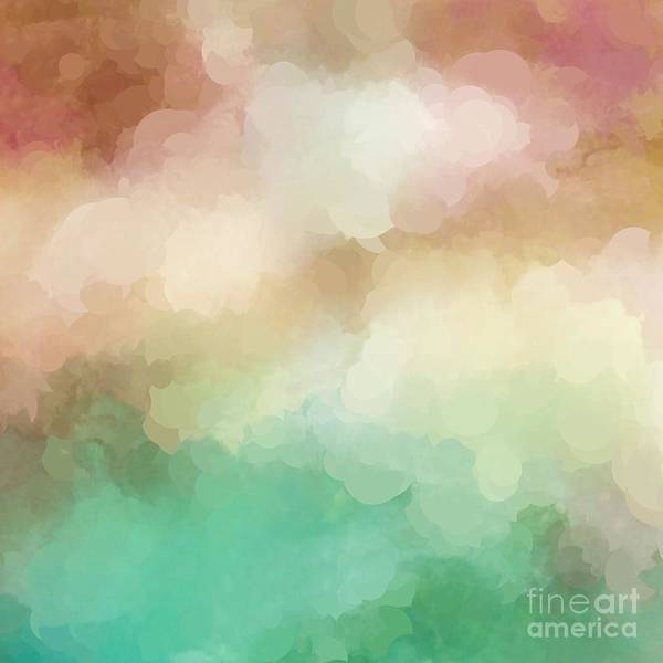 Digital Art - Abstract Pastel Blush Green Design by Sheila Wenzel