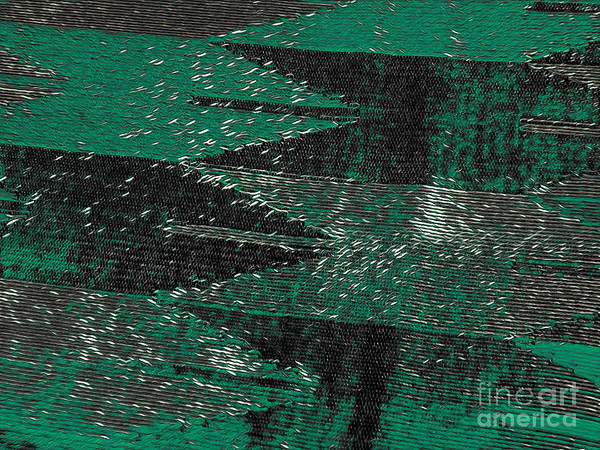 Mixed Media - Abstract Pattern No.11 Green And Black by Lita Kelley