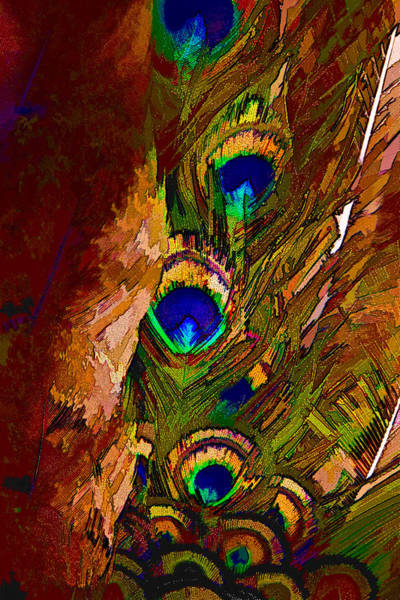 Chs Digital Art - Abstract Peacock by Ches Black