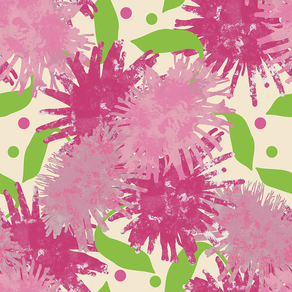 Digital Art - Abstract Pink Puffs by April Burton
