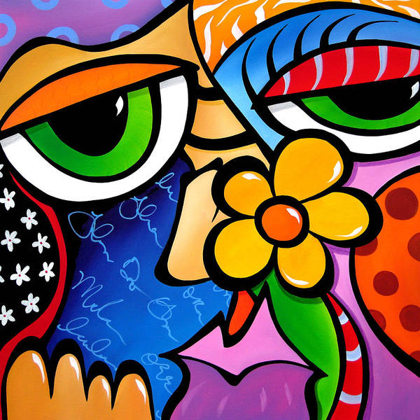 Wall Art - Painting - Abstract Pop Art Original Painting Scratch N Sniff By Fidostudio by Tom Fedro - Fidostudio