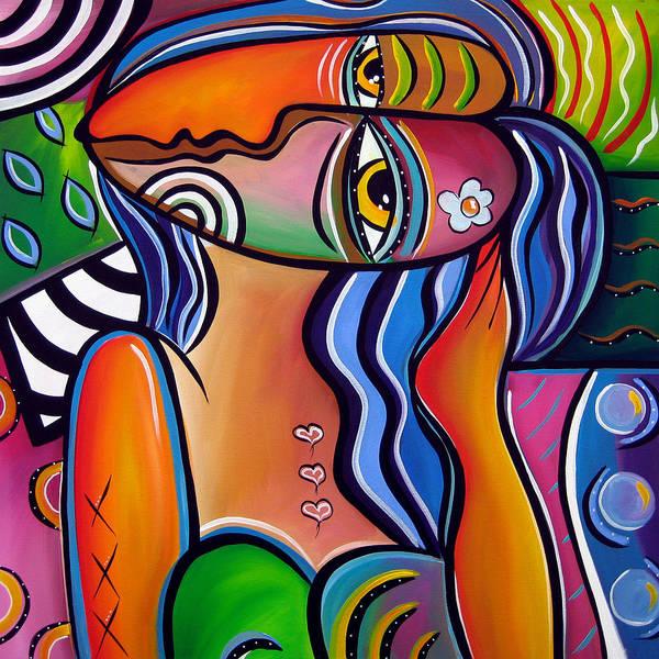 Wall Art - Painting - Abstract Pop Art Original Painting Shabby Chic by Tom Fedro - Fidostudio