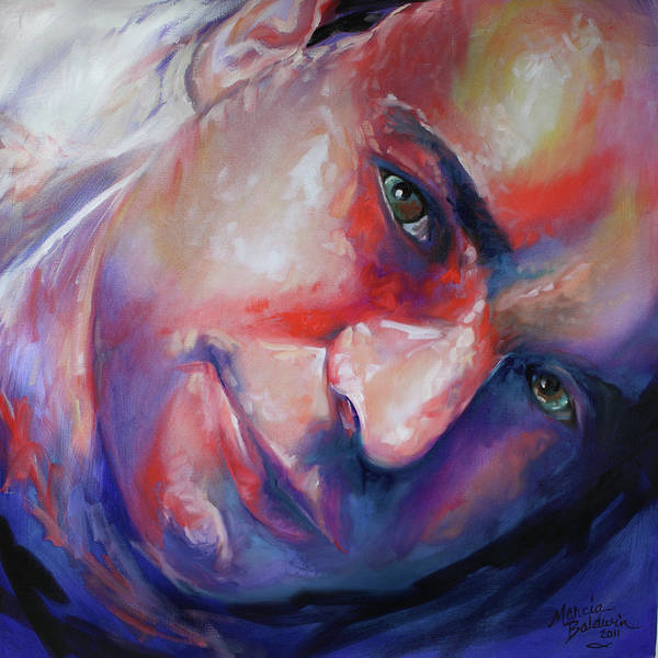 Painting - Abstract Portrait by Marcia Baldwin