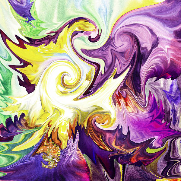 Painting - Abstract Purple Flower  by Irina Sztukowski