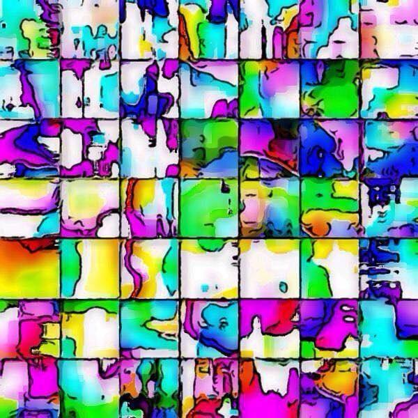 Digital Art - Abstract Quilt by Karen Buford