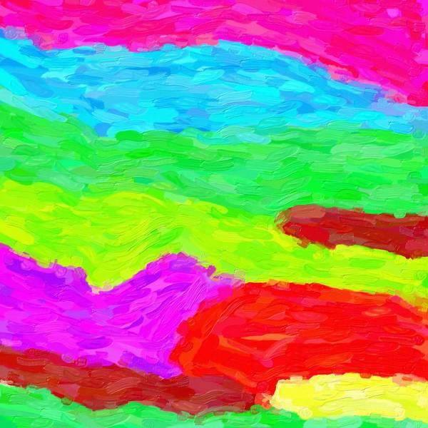 Wall Art - Painting - Abstract Rainbow Art By Adam Asar 3 by Adam Asar