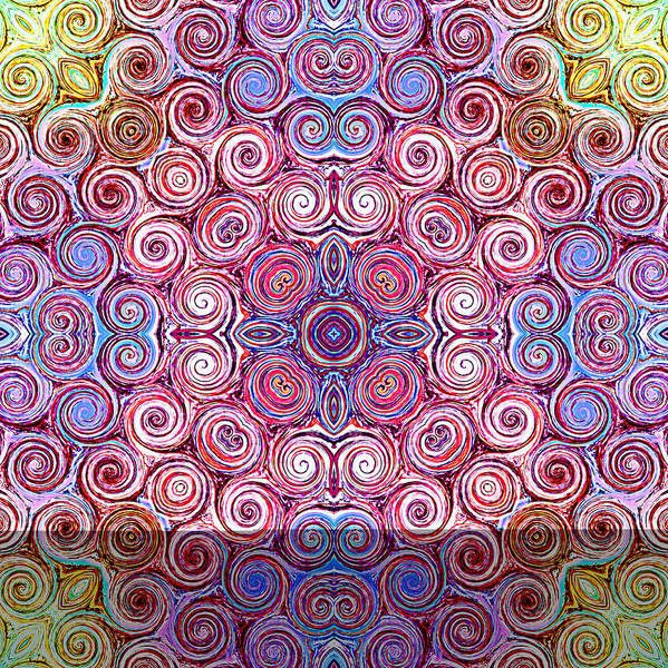 Digital Art - Abstract Rainbow Swirl IIi by Ruth Moratz
