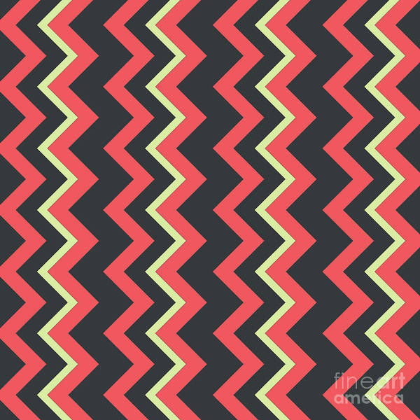 Wall Art - Digital Art - Abstract Red, Dark Gray And Green Pattern For Home Decoration by Drawspots Illustrations