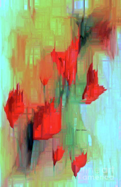 Painting - Abstract Red Flowers by Rafael Salazar