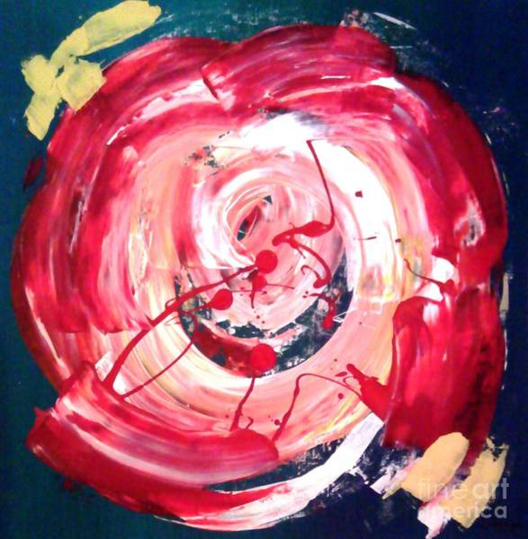 High Jump Painting - Abstract Red Rose by Jay Anthony Gonzales