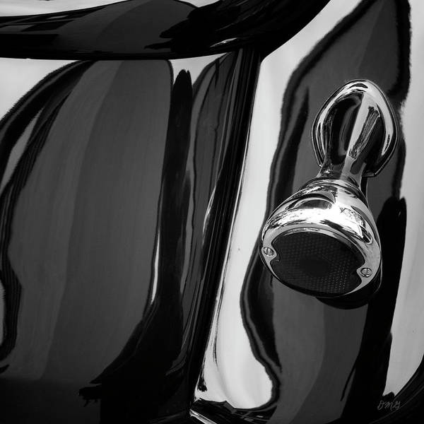 Photograph - Abstract Reflection Bw Sq - Vehicle by David Gordon