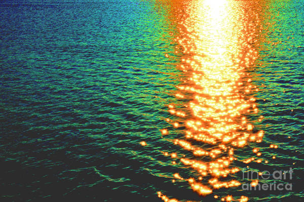 Photograph - Abstract Reflections Digital Painting #5 - Delaware River Series by Robyn King