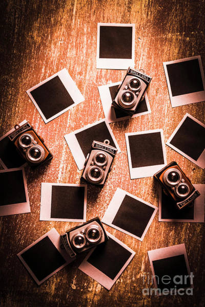Table Photograph - Abstract Retro Camera Background by Jorgo Photography - Wall Art Gallery