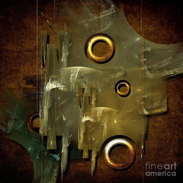 Digital Art - Abstract Rings by Alexa Szlavics