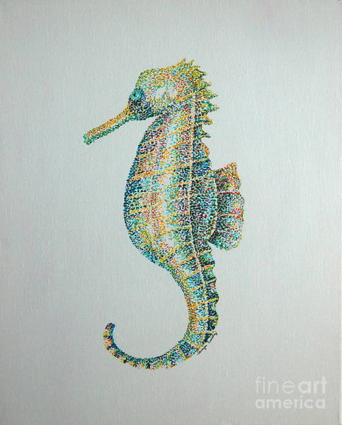 Painting - Abstract Seahorse by Tamyra Crossley