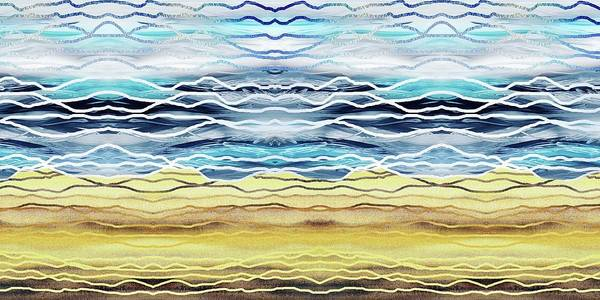 Painting - Abstract Seascape Beach House Interior Decor I by Irina Sztukowski