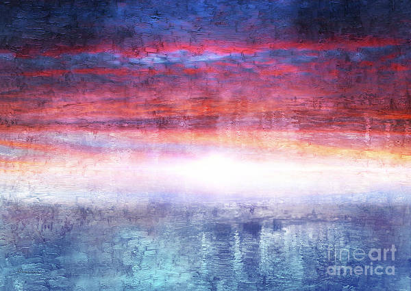 Painting - Abstract Seascape Sunset Painting 35a by Ricardos Creations