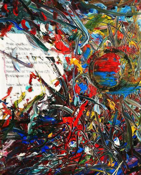 Painting - Abstract Setlist by Neal Barbosa