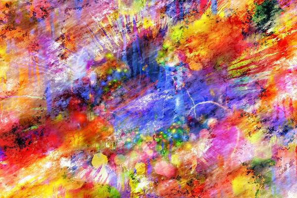 Painting - Abstract Splash by Shabby Chic and Vintage Art