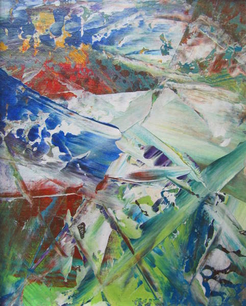 Painting - Abstract Spring - Close Up 1 by Anita Burgermeister