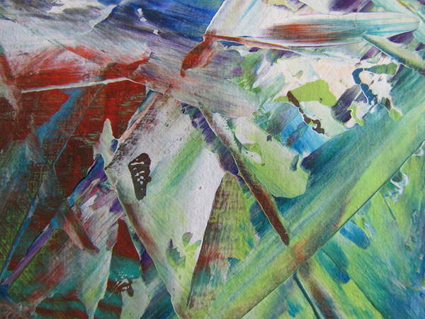 Painting - Abstract Spring - Close Up 3 by Anita Burgermeister