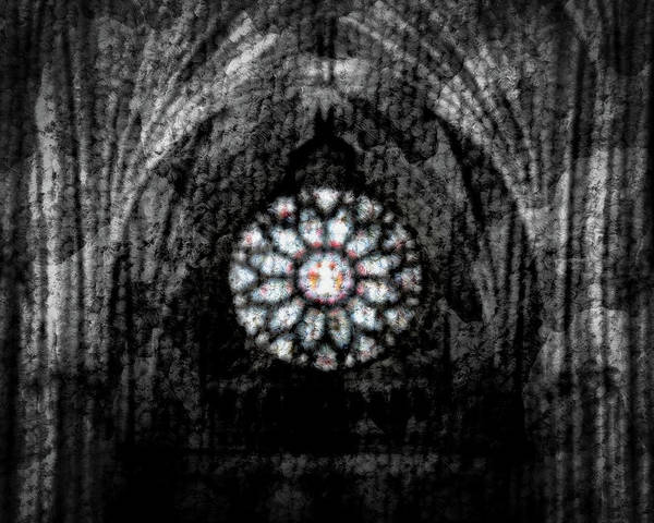 Photograph - Abstract Stained Glass Blurred Background by Jacek Wojnarowski