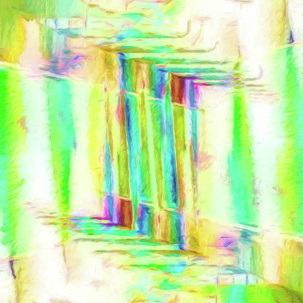 Jewels Digital Art - Abstract - Stained-glass Dreams by Jon Woodhams