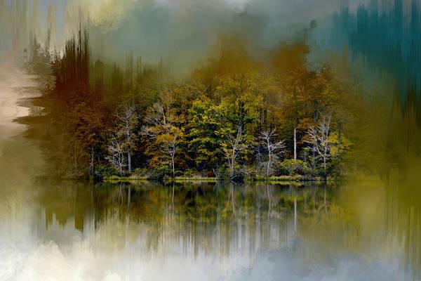 Photograph - Abstract Summer Lake by Jai Johnson