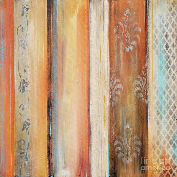 Wall Art - Painting - Abstract Surrender Stripes-b by Jean Plout