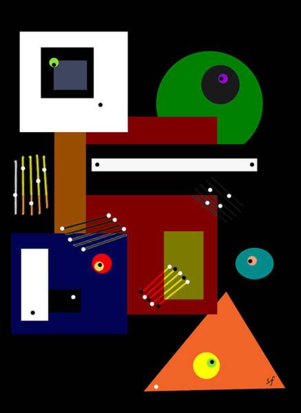 Digital Art - Abstract Surveillance  by Shelli Fitzpatrick