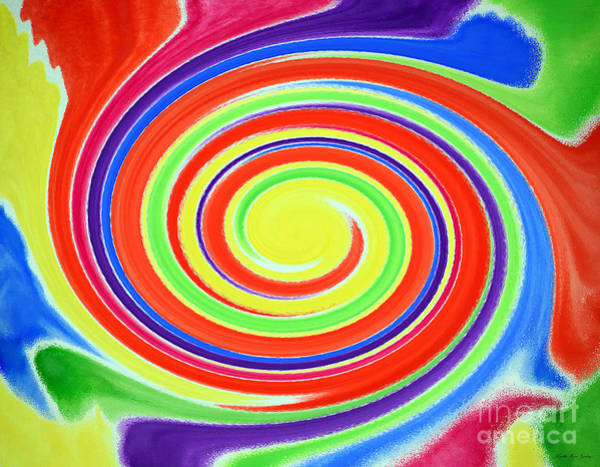 Painting - Abstract Swirl A1 1215 by Mas Art Studio
