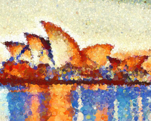 Wall Art - Painting - Abstract Sydney Opera House by Dan Sproul