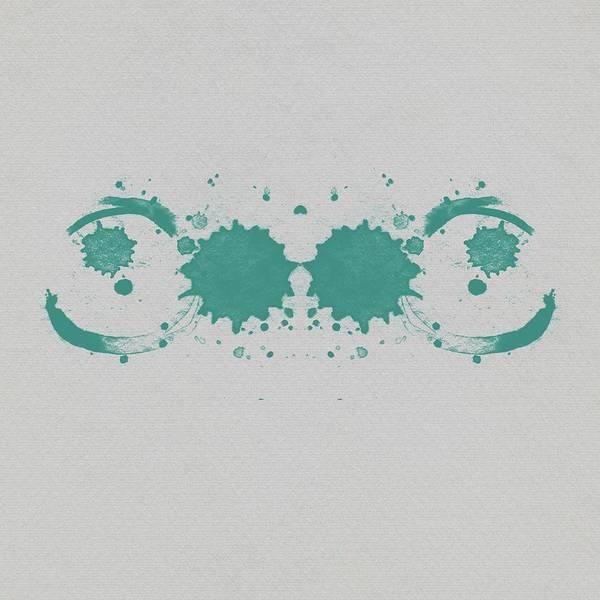 Wall Art - Digital Art - Abstract Teal Rorschach by Brandi Fitzgerald