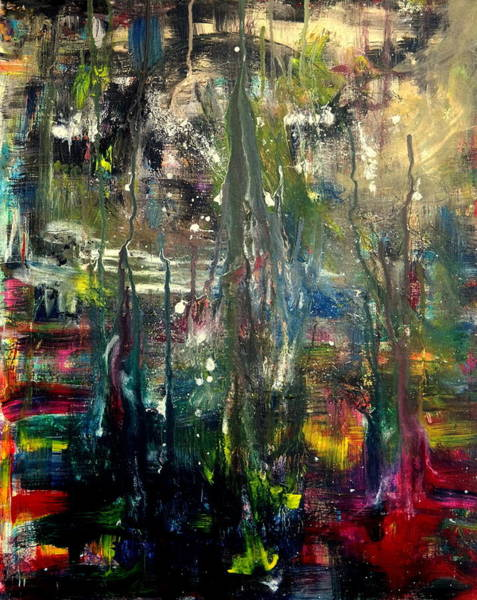 Buried Painting - Abstract - The Man Buried In Moon River by Angela  Holladay