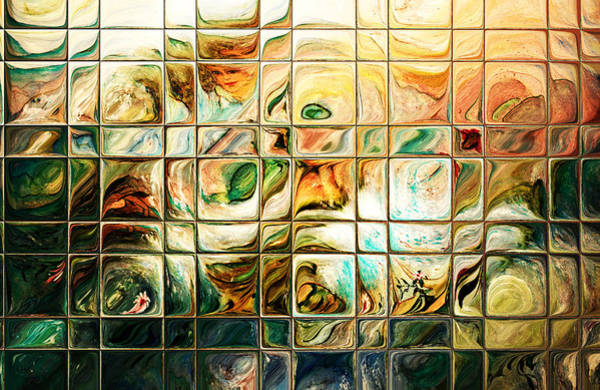 Wall Art - Digital Art - Abstract-through Glass by Patricia Motley